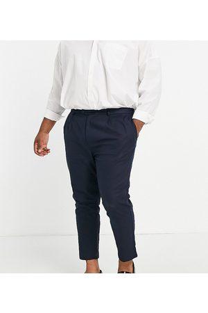 Gianni Feraud Men Chinos - Plus linen pleated pants