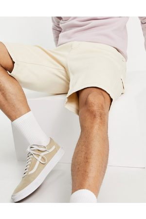 Dickies Garyville raw twill shorts in -White