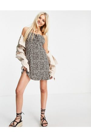 ASOS Women Party Dresses - Ruched bust mini slip dress in -Multi