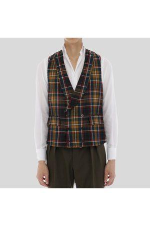Pasini Tartan Double-Breasted Waistcoat