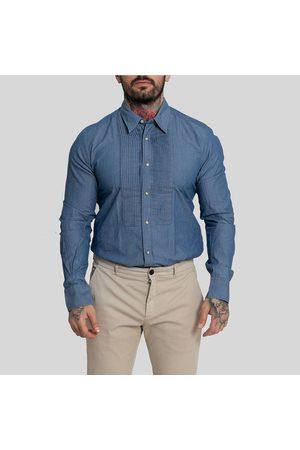 Tintoria Mattei 954 Long Sleeved Buttoned Shirt-Denim