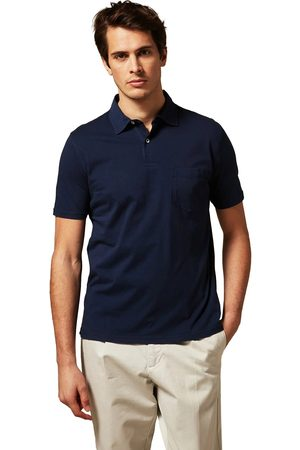 Hartford Jersey Knitted Polo Navy
