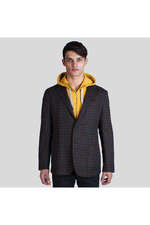 Z Zegna Grey Check Wool Marco Blazer
