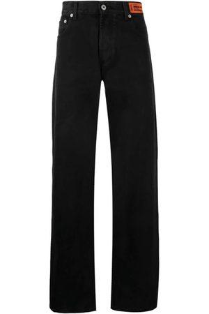 Heron Preston Men Straight - Logo Patch Straight-Leg Jeans