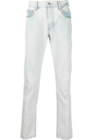 Off-White Diag-Print Slim-Cut Jeans