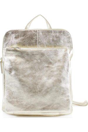 Sostter Soft Metallic Leather Pocket Backpack