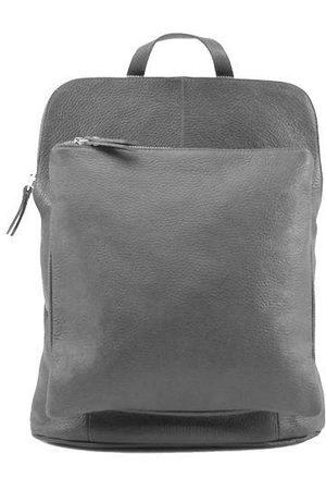 Sostter Slate Soft Pebbled Leather Pocket Backpack