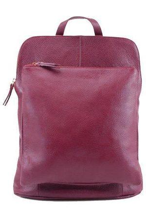 Sostter Maroon Soft Pebbled Leather Pocket Backpack