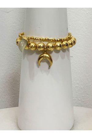 Ashiana London Ashiana Bracelet Set with Horn Charms