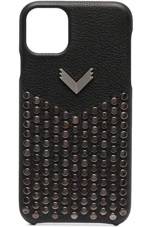 Manokhi Phone Cases - Studded leather iPhone 11 Pro Max case