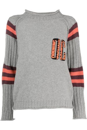 Opening Ceremony Women Sweaters - Logo-patch crew-neck jumper