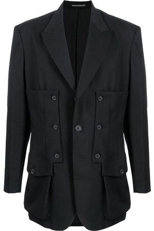 YOHJI YAMAMOTO Buttoned panelled wool blazer