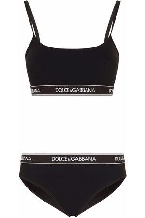 Dolce & Gabbana Branded-band bikini set