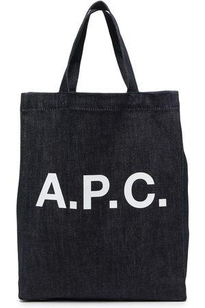 A.P.C. Logo-print denim tote