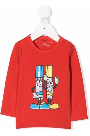 Stella McCartney Painting Friends-print cotton T-shirt