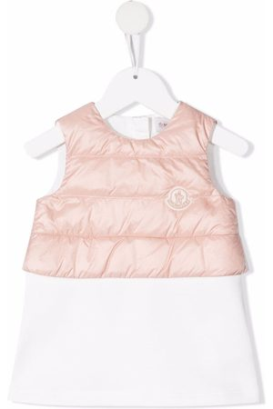 Moncler Baby Casual Dresses - Padded-panel cotton dress