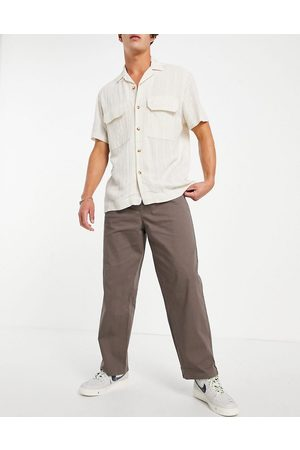 ASOS Men Chinos - Wide leg pants with pleats in light