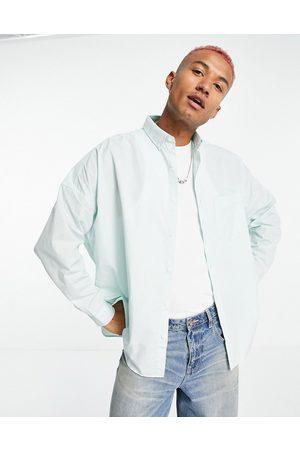 ASOS DESIGN Volume oversized dad shirt in pastel green