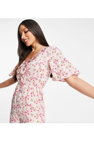 Influence Playsuit in floral print