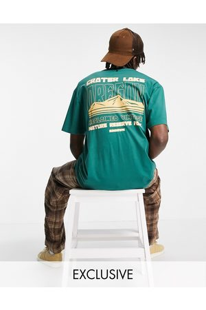 Reclaimed Men Short Sleeve - Inspired organic cotton relaxed t-shirt with Oregon graphic in