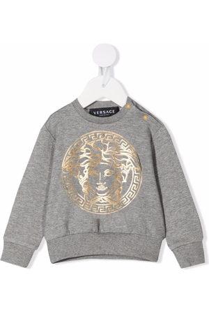 VERSACE Sweatshirts - Logo-print cotton sweatshirt