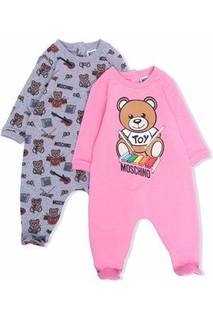 Moschino Sets - Teddy bear print babygrow set