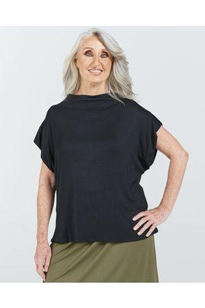 Christina Stephens Women's Leaf Back Blouse - Tops Women's Leaf Back Blouse