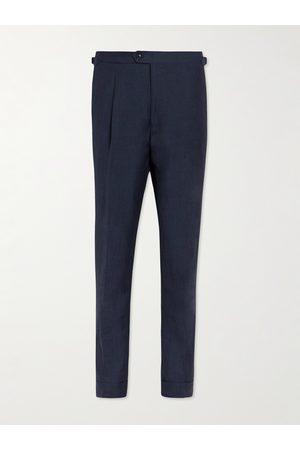 Saman Amel Linen, Wool and Silk-Blend Trousers