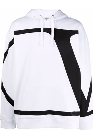 VALENTINO Men Hoodies - VLogo Signature print hoodie