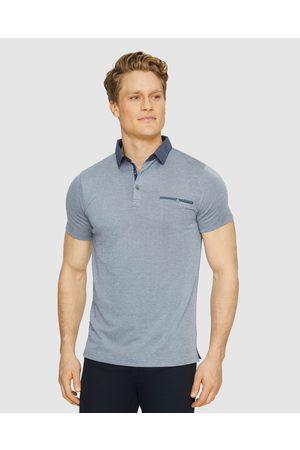 Tarocash Men Tops - Capri Modal Polo - T-Shirts & Singlets (NAVY MARLE) Capri Modal Polo