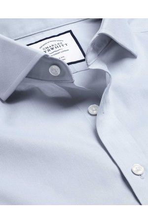 Charles Tyrwhitt Men Business - Cutaway Collar o-Iro Twill Cotto Busiess Shirt - Silver Frech Cuff Size 37/84 by Charles Tyrwhitt