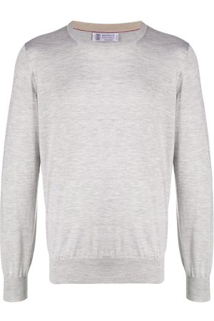 Brunello Cucinelli Rib-trimmed relaxed-fit jumper