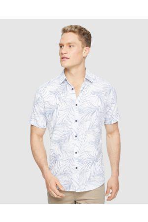 Tarocash Shady Palms Linen Shirt - Casual shirts Shady Palms Linen Shirt