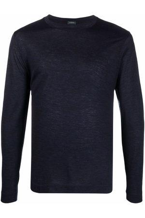 ZANONE Men T-shirts - Round neck long-sleeved T-shirt