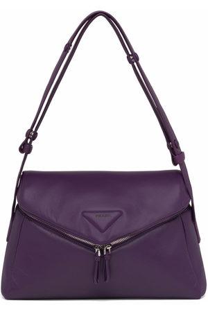 Prada Logo-patch front-flap shoulder bag