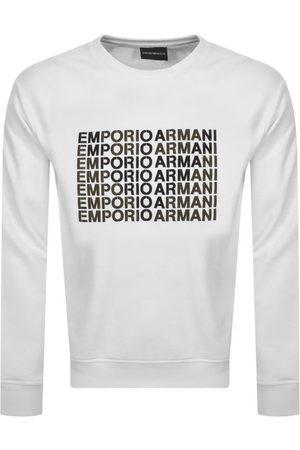 Armani Men Sweatshirts - Emporio Crew Neck Logo Sweatshirt