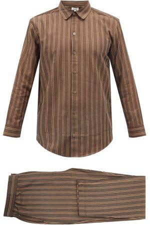 P. Le Moult Striped Cotton Pyjamas - Mens - Stripe