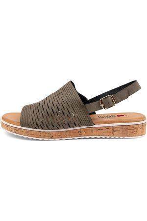 I LOVE BILLY Women Sandals - Harmanie Il Khaki Sandals Womens Shoes Casual Sandals Flat Sandals