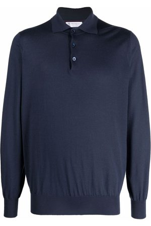 Brunello Cucinelli Knitted cashmere polo shirt