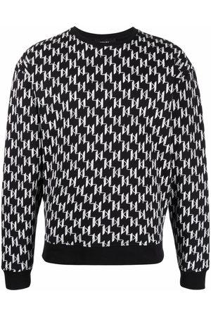 Karl Lagerfeld Monogram-print rib-trimmed sweatshirt