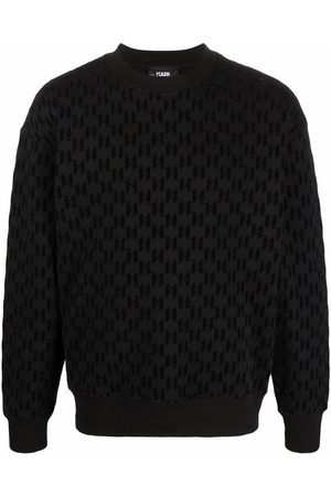 Karl Lagerfeld Sweatshirts - Flocked-logo sweatshirt
