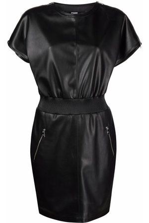 Karl Lagerfeld Women Dresses - Zip-detail faux leather dress