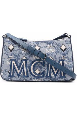 MCM Women Shoulder Bags - Visetos jacquard shoulder bag