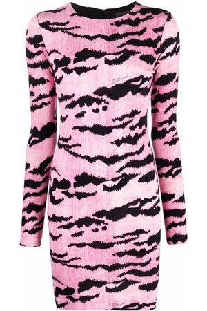 Roberto Cavalli Tiger-print bodycon mini dress