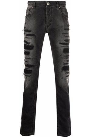 Roberto Cavalli Distressed straight jeans