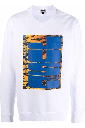 Roberto Cavalli Tiger-print logo sweatshirt