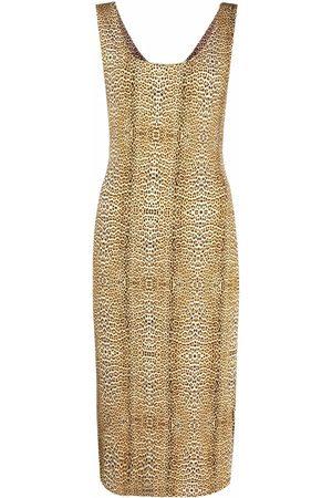 Roberto Cavalli Leopard print sleeveless dress