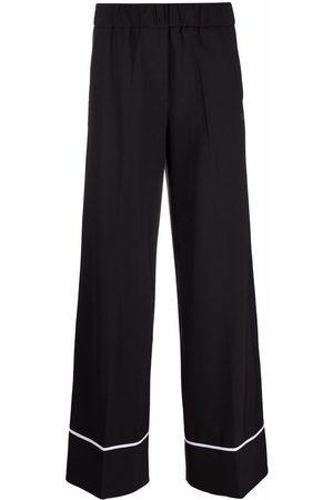 OFF-WHITE Logo-print pajama trousers