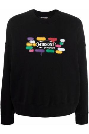 Palm Angels Men Sweatshirts - X Missoni Sport logo print sweatshirt