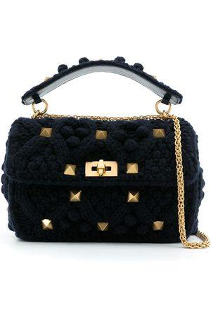 VALENTINO GARAVANI Rockstud knitted tote bag
